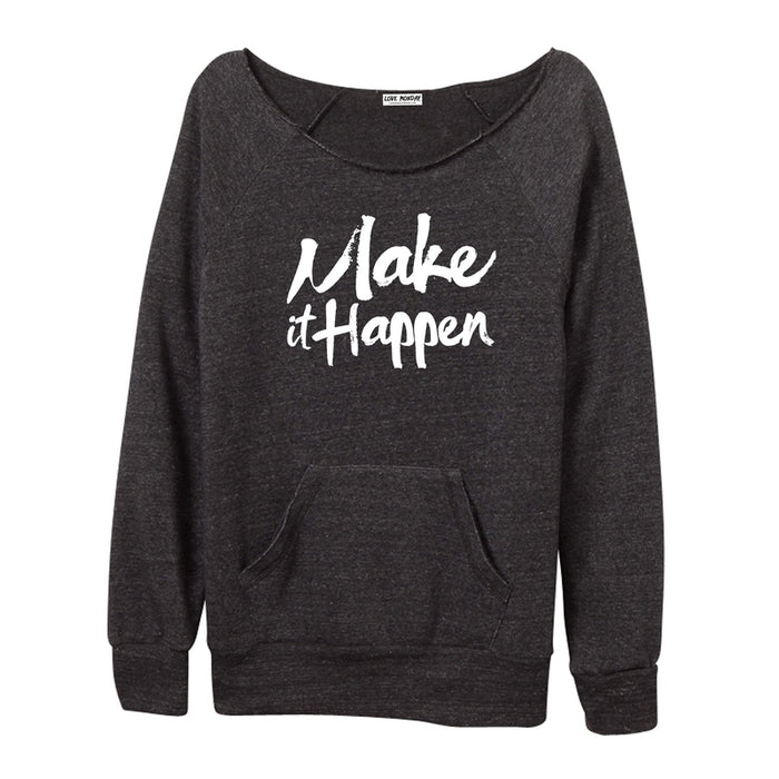 Make It Happen Women's Off-The-Shoulder Sweatshirt
