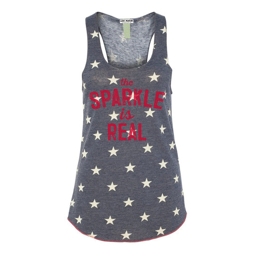 The Sparkle Is Real Women's Racerback Star Tank