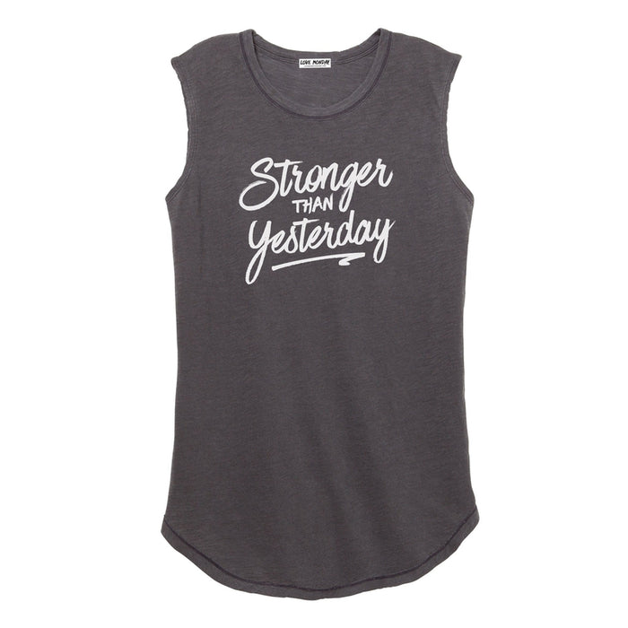 Stronger Than Yesterday Women's Muscle Tee