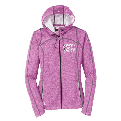Stronger Than Yesterday Women's Endurance Full Zip Hoodie