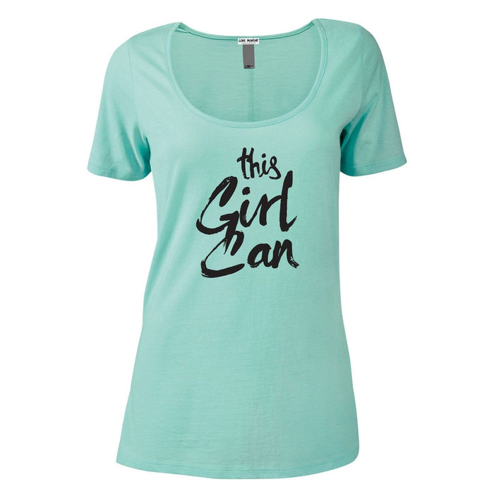 This Girl Can Women's Scoop Neck Tee
