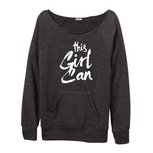 This Girl Can Women's Off-The-Shoulder Sweatshirt