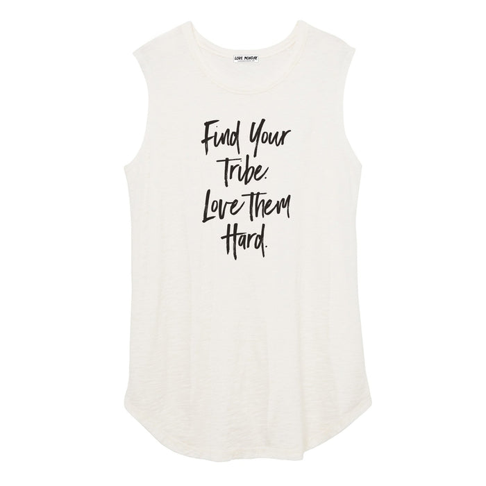 Find Your Tribe Love Them Hard Women's Muscle Tee