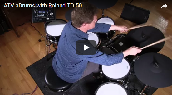 ATV Adrums with Roland TD-50 Module - w/ Video