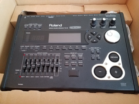 Roland TD-30 Module with Box - Used Great Shape! - edrumcenter.com