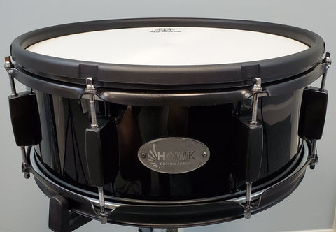 "Hawk Custom 14"" Electronic Snare Drum - Black Finish w/ Black Hardware"