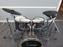 Load image into Gallery viewer, Hawk Custom Edrums Prototype Black Sparkle Kit and Roland Package