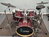 Hawk Custom Edrums Prototype Red Sparkle Kit and Roland Package