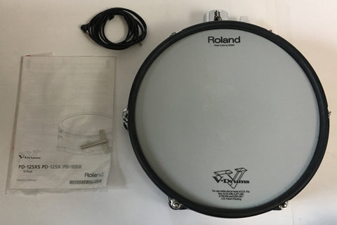 "Roland PD125X 12"" Tom Used w/ box, cable, and manual SN4841 - edrumcenter.com"