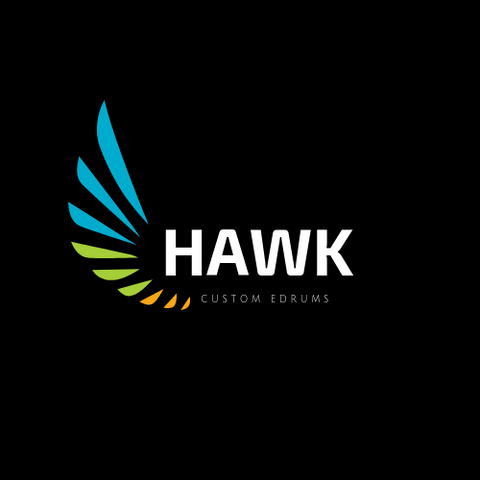 "Hawk Custom Edrums 18"" Electronic Kick Drum - Black - edrumcenter.com"