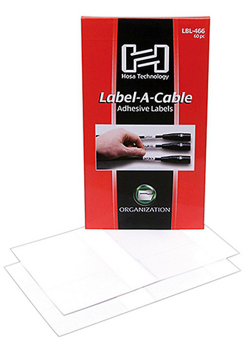 Hosa Label Pack LBL-466 - 60 PC - edrumcenter.com