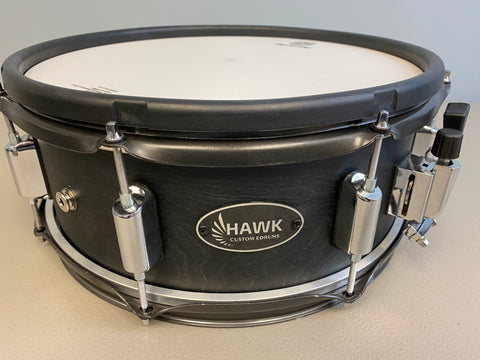 "Hawk Custom Prototype 14"" Electronic Snare in Transparent Satin Black - edrumcenter.com"