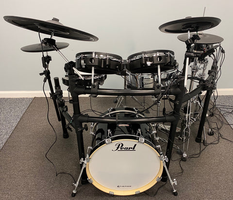 Custom Roland V-Drums TD-27KV Electronic Drum Kit w/ Pearl EM-EBP Kick Drum