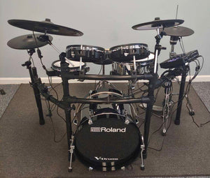 Custom Roland V-Drums TD-27KV Electronic Drum Kit w/ KD-180 kick drum