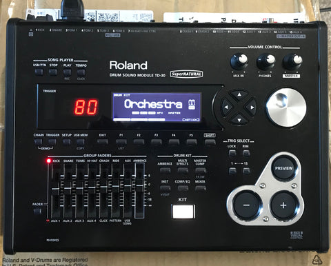 Roland TD-30 Module Used - w/ box and manual - Fair Condition #3241