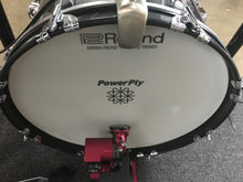 "Load image into Gallery viewer, Edrumcenter Custom 18"" Acoustic/Electric Kick Drum - Metallic Sparkle - edrumcenter.com"