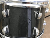 Hawk Custom 4 Piece Shell Pack - Black Sparkle # 1 - edrumcenter.com