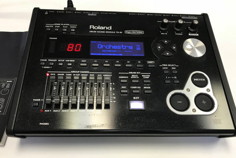 Roland TD-30 Module Used - Good Shape w/ Box and Manual # 3625 - edrumcenter.com