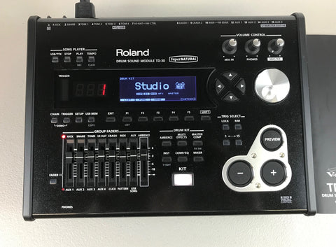 Roland TD-30 Module - Used -Good Condition w/ Manual #5103 - edrumcenter.com