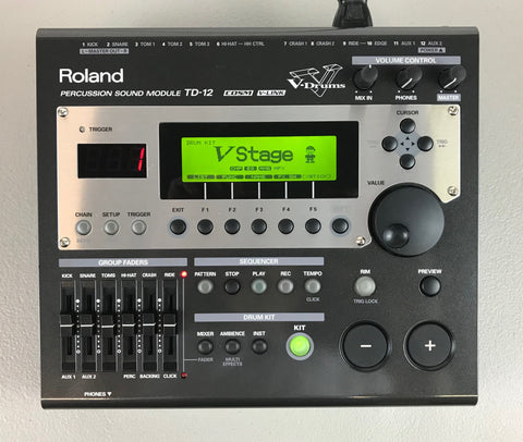 Roland TD-12 Module - Used - Good condition #7211 - edrumcenter.com