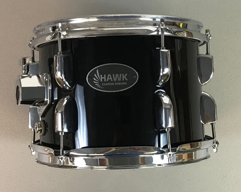 "Hawk Custom 10"" Electronic Tom - Gloss Black - edrumcenter.com"