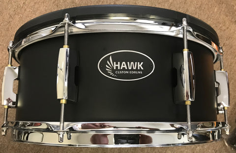 "Hawk Custom 14"" Electronic Snare in Satin Black - edrumcenter.com"