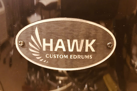 Hawk Custom Edrums LTD Edition 5 Piece Shellpack - Black - edrumcenter.com