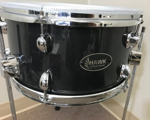 "Hawk Custom Edrums 14""x7"" Tom - Black Sparkle - edrumcenter.com"