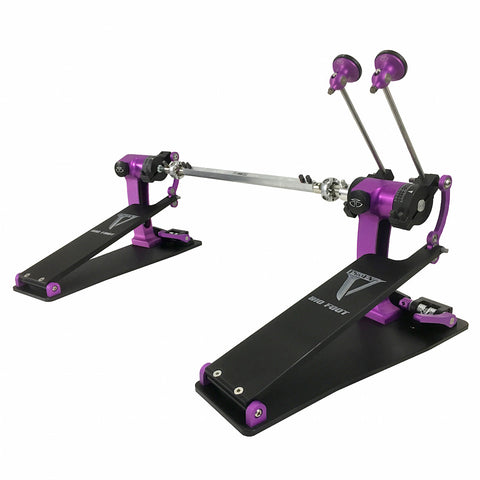 Trick P1VBF2-CSPU Bigfoot Double Pedal in Custom Purple and Black - edrumcenter.com