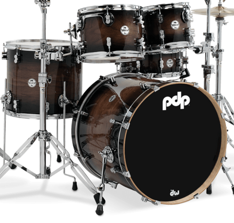 PDP PDCMX2215WC Concept Exotic - Walnut to Charcoal Burst - 5-Piece Kit - edrumcenter.com