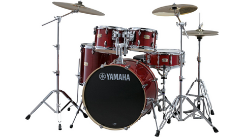 Yamaha SBP0F5 Stage Custom Birch Cranberry Red Shell Pack - edrumcenter.com