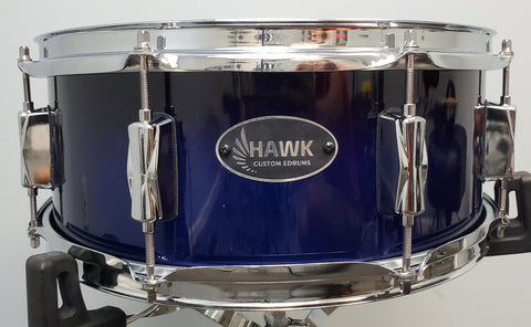 "Hawk Custom Edrums 14"" Snare Drum - Cobalt Blue Fade"