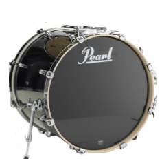 "Pearl EXL2218B/C # 248 Black Smoke 22"" Kick Drum - edrumcenter.com"