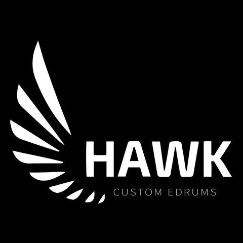 Hawk Custom Edrums T-Shirt - Short Sleeve - Black - edrumcenter.com