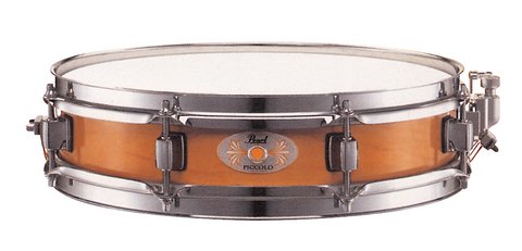 Pearl M1330-114 Piccolo Snare Drum - Maple Shell Liquid Amber - edrumcenter.com
