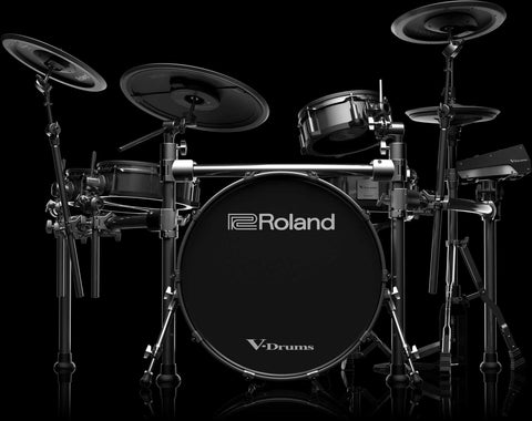 Roland TD-50KV-EDC V-Drum Kit w/ Custom Black Bass Drum - edrumcenter.com