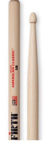 Vic Firth American Classic 5B Wood Tip Drum Sticks - Pair - edrumcenter.com