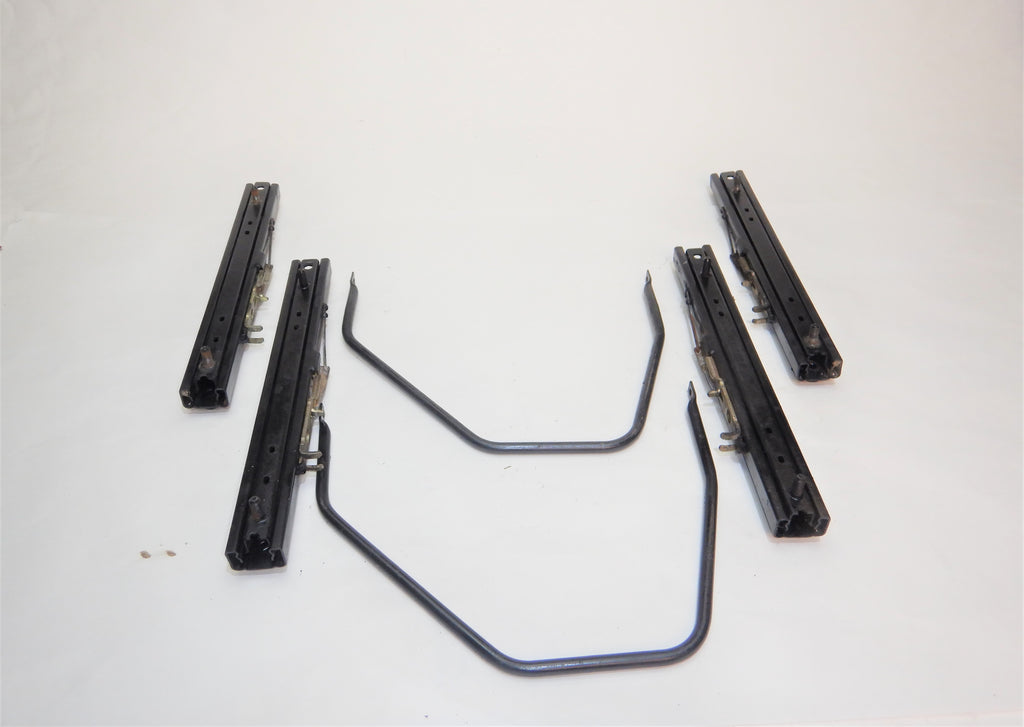 "87-90 Wrangler YJ Jeep Seat Slider Adjuster Base Bracket Set 12"" Driver Passenger"