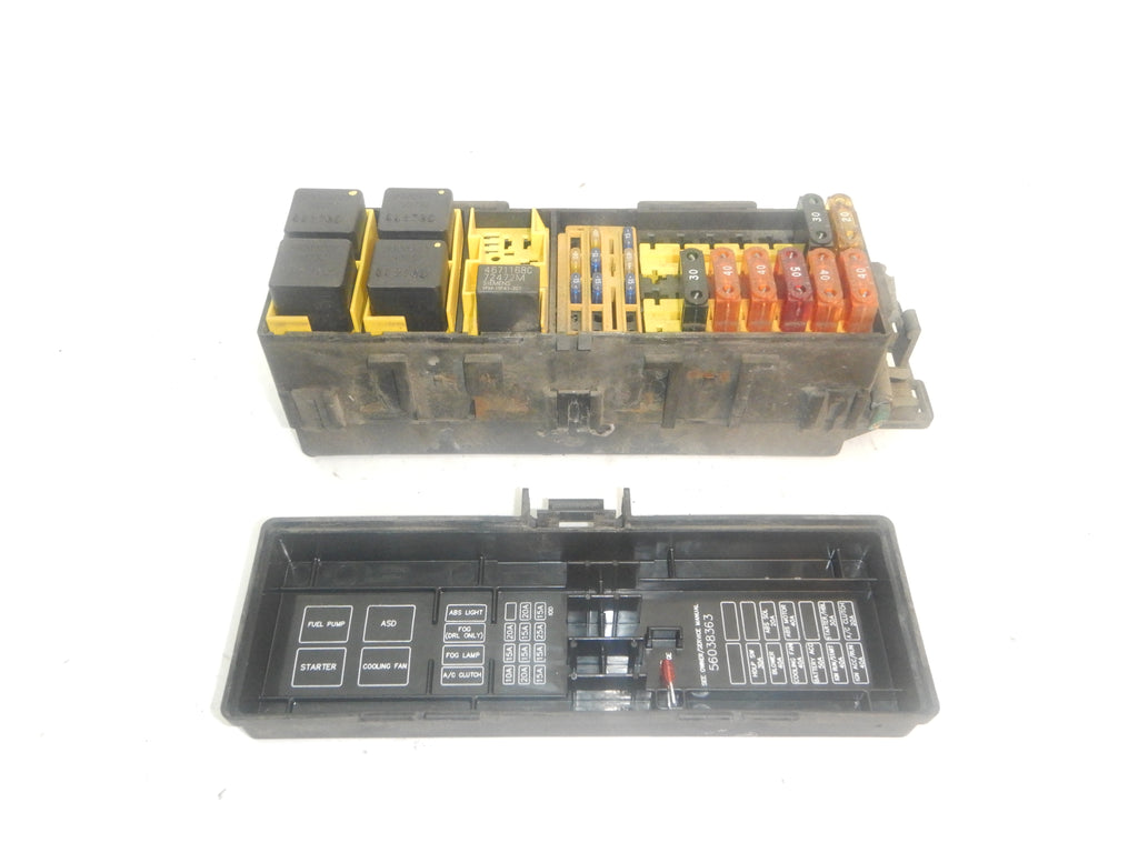 1997 Cherokee XJ Jeep 4.0 Fuse Box Relay Under Hood Electronic Panel Block 97