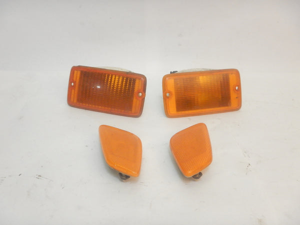 97-06 Wrangler TJ Front Fender Marker Lights Light Lamp Set (4)