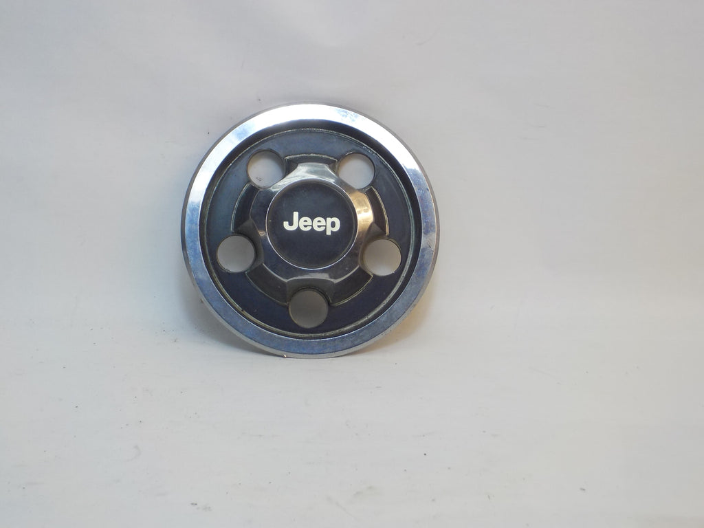 87-06 Wrangler YJ TJ Jeep Wheel Center Cap Black Chrome
