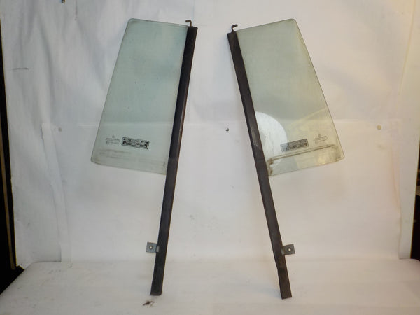 97-01 Cherokee XJ Jeep Rear Door Vent Glass Window Clear Pair Driver Passenger