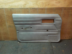 84-96 Cherokee XJ Gray Driver Front Interior Door Panel Left Manual Window