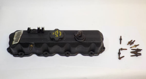 91-95 Cherokee XJ Jeep 2.5 Engine Valve Cover 4 Cylinder + Screws Hardware 53021343