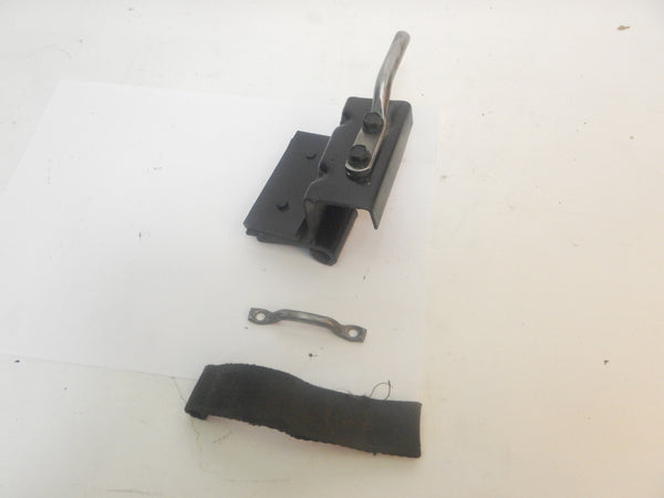 76-95 Wrangler YJ CJ Passenger RH Lower Door Hinge Limit Strap Catch Bracket Pin Loop
