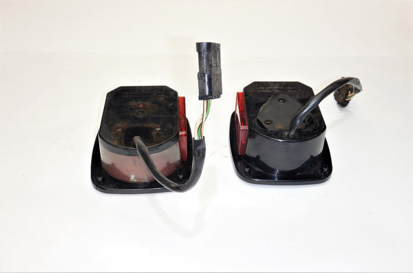 91-95 Wrangler YJ Jeep Tail Light Taillight Lamp Set Pair Driver Passenger 56016721 56016720