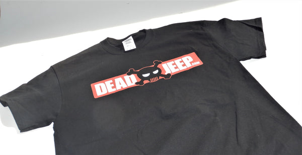 DeadJeep Logo T-Shirt Black 100% Cotton - All Sizes!