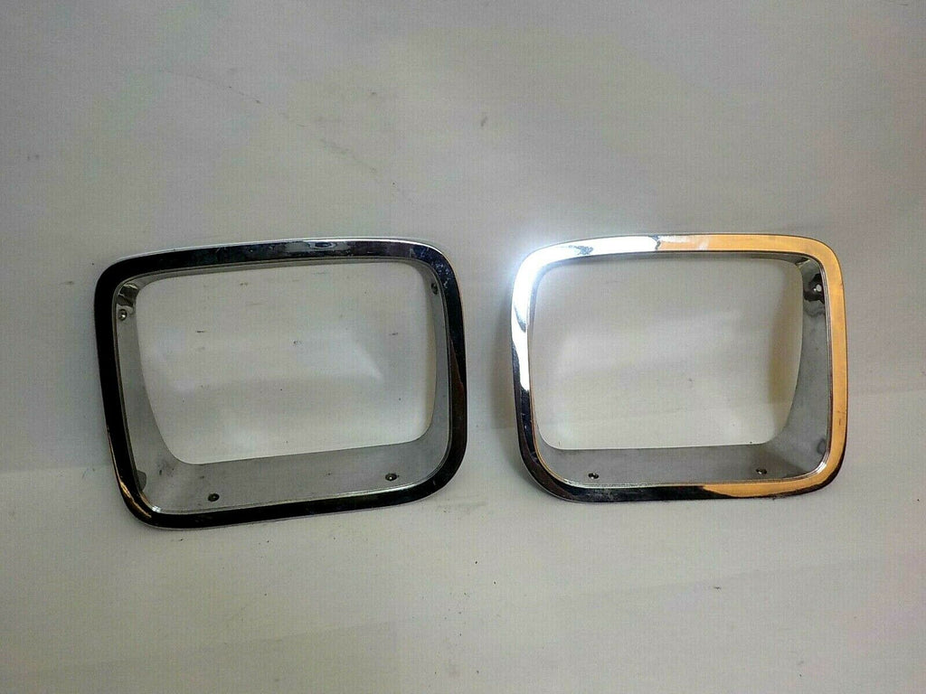 87-95 Wrangler YJ Chrome Head Light Bezel Ring Pair Set Driver & Passenger