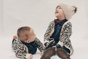 Kids' Premium Leopard Knit Cardigan - Mommy & Me