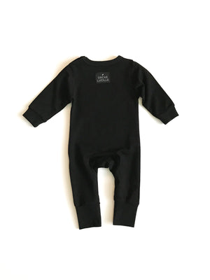 Sweatshirt Romper - Black